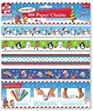100 x Cute Design Christmas Make Your Own Paper Chains Decorations Xmas