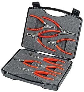 KNIPEX 00 21 25 Jeu de pinces de précision pour circlips 8 outils