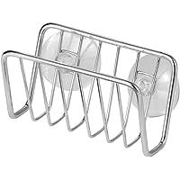 InterDesign Rondo porte-éponge, panier de rangement vaisselle en acier inoxydable pour éponges, torchons, etc…