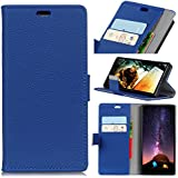 Sharp Android One X4 Case, Codream Sharp Android One X4 Leather Wallet Case Book Design With Flip Cover And Stand [Credit Card Slot] Cover Case Compatible With Sharp Android One X4 - Blue