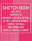 Sketch Book: Dot Grid, Isometric, Hexagon, Graph, Comic Book, and Open Box Sketch Variety Paper Notebook for Drawing Doodling and Sketching  Coral Pink