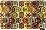 matches21 Küchenläufer Teppichläufer Teppich Läufer Marokko Fliesen Mosaik orange bunt 50x80x0,4 cm maschinenwaschbar