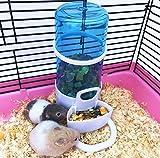 Ayuboom Automatische Futterspender,Hamster Wasser Spender, Haustier Trinkflasche Hängende,Wasser Spender für Hamster Vogel Kleintiere Taube Papageien Mini Lgel mit Halter