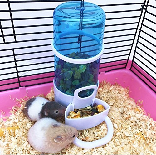 Automatische Futterspender,Hamster Wasser Spender, Haustier Trinkflasche Hängende,Wasser Spender für Hamster Vogel Kleintiere Taube Papageien Mini Lgel mit Halter Von Ayuboom