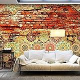 murando - Fototapete 400x280 cm - Vlies Tapete - Moderne Wanddeko - Design Tapete - Wandtapete - Wand Dekoration - Ziegel Ornament Mosaik Fliese Mauer f-A-0527-a-c