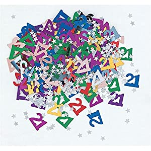 Gifts 4 All Occasions Limited SHATCHI-535 - Confeti para decoración de mesa (4 unidades, 21 unidades), diseño de confeti