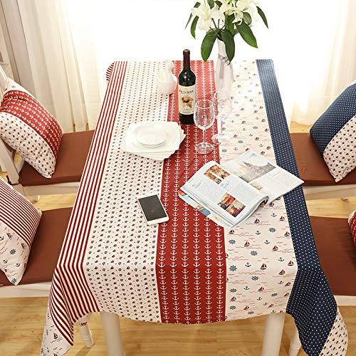 XTUK Home Decoration Tischdecke Einfache Tischdecke Tischdecke Staubtuch Rechteckige Westliche Tischdecke Einfache Elegante Tischdecke Rot Blau 140 * 180 cm