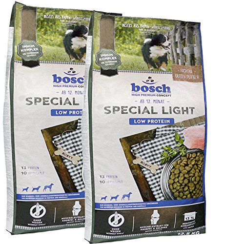 2 x 12,5 kg Bosch Special Light High Premium Hundefutter