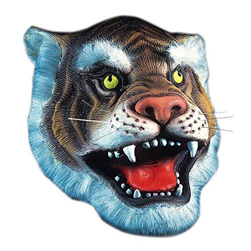 Carnival Toys 1091 - Maske Tiger, Latex, gelb/Schwarz