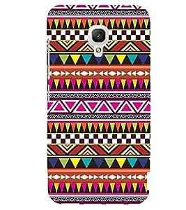 Printvisa Ethnic Multicoloured Pattern Back Case Cover for Xiaomi Redmi 2A