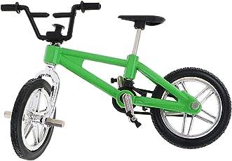 Segolike Stylish Finger Mountain Bike Miniature Metal Bicycle Model Creative Game for Children Kids Gift - green