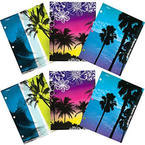 mead-trapper-keeper-2-pocket-folders-fun-in-the-sun-assorted-designs-6-pack-73453-by-mead