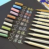 VStoy Juego de 10rotuladores de colores, Metálico Oro y Plata Blanco y Rosa Tarjeta de tinta lo nuevo