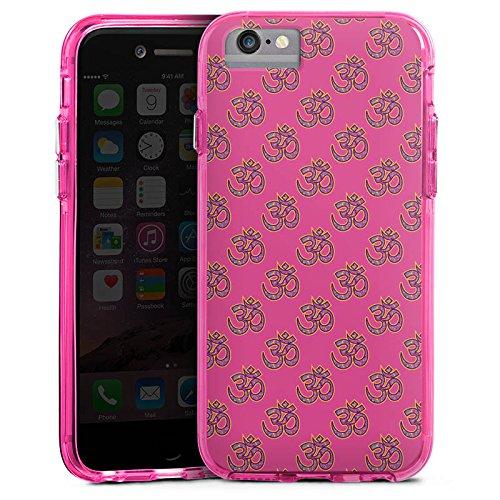 Apple iPhone 8 Bumper Hülle Bumper Case Glitzer Hülle Indisch Indien Muster Bumper Case transparent pink