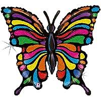 Betallic F85667 - Palloncino a forma di farfalla pop- art, 83 cm circa, olografico