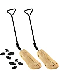 dbf2af8239e ENET 2pcs Boot Shaper Wood Boot Shoe Tree Stretcher Wooden UK Size 4-7 2