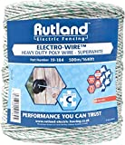 Rutland 19-184R Superweißer Elektrozaun-Draht, 500m