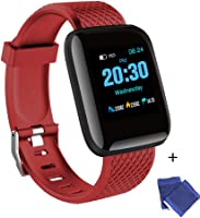 Explopur SmartWatch - IP67 Impermeabile Color Screen Touching Sports Fitness Orologio - 1,3 Pollici BT Smartwatch con...