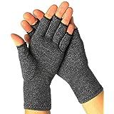 Guanti per artrite, guanti a compressione senza dita, per digitare al computer, guanti traspiranti per donne e uomini