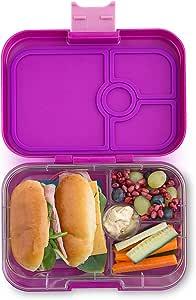 Yumbox Panino M Lunchbox (Bijoux Purple, 4 Fächer) - mittelgroß | Bento Box Brotdose Vesperbox für Kindergarten Kinder, Schule und Erwachsene
