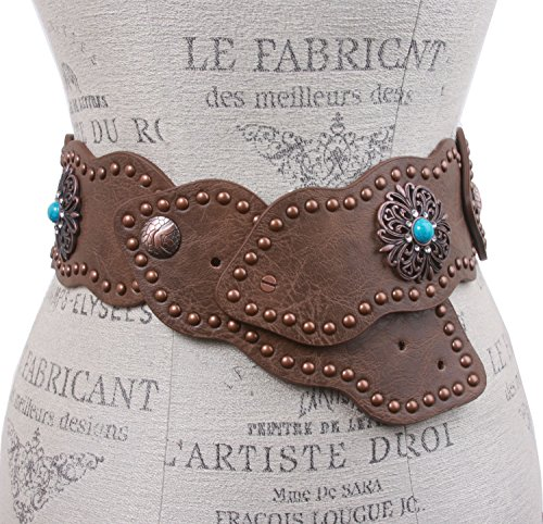 3-75-mm-Wide-Link-Turquoise-Studded-Leather-Belt