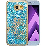 """Coque Samsung Galaxy A5 2017 Silicone Nnopbeclik® Paillettes Briller Style Backcover Doux Soft Transparente Housse pour Samsung Galaxy A5 2017 Coque Silicone (5.2 Pouce) Antichoc Protection Antiglisse Anti-Scratch Etui """"NOT FOR A5 2016/2015"""" - [Bleu2]"""