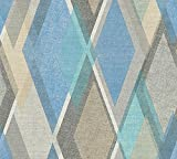 A.S. Création Vliestapete Pop Colors Tapete im Retro Design Retrotapete 70er Jahre Style 10,05 m x 0,53 m beige blau grau Made in Germany 355912 35591-2
