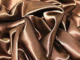 Satin Rückseite Crepe Brautschmuck Stoff Schokolade
