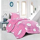 طقم لحاف سرير صيفي للاطفال، مكون من 3 قطع، متعدد الالوان، مزدوج من مينغ لي MMKT-011