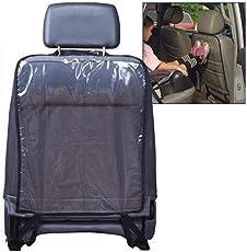 Tiowea Kick Mats Aufbewahrungstasche Auto Rücksitzbezug Schützt Sitze vor Schmutz/Footprints Auto Auto Rückenlehnenschutz Cover Schwarz