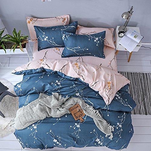 Dotbuy Bettbezug Set Baumwolle, Bettwäsche Set 3-teilig Stil Gemütlich Bettdecke 2tlg Bettwäsche