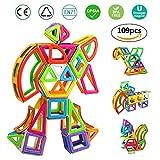 Magnetische Bausteine   infinitoo 109tlg Magnetische Bauklötze   Magnetische Konstruktionsbausteine Konstruktion Blöcke   Tolles Geschenk Magnetspielzeug für Baby,Kleinkinder ab 3 Jahre   Perfekt für den Einsatz zu Hause, in Schulen, Picknick, Kindertagesstätten Groß