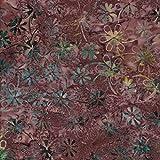 weinrot 100% Baumwolle Bali Batik tie dye Muster Stoff für