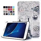 Samsung Galaxy Tab J T285DY 7.0 Cover - Custodia Ultra Sottile e Leggero con Coperture da Supporto per Samsung Galaxy Tab J T285DY 7,0 Pollici Tablet 2016 Release, Mappa Torre