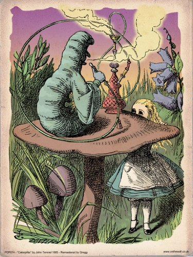 onthewall Alice im Wunderland die Raupe Vintage Art Print Poster 40x 30cm (PDP 074) (Alice Im Wunderland Poster)