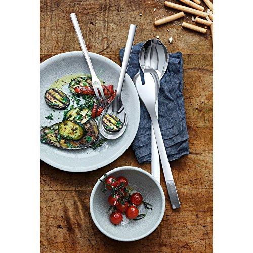 WMF Nuova Servierteile, Set 4-teilig, Salatbesteck, Servierlöffel, Serviergabel, Cromargan Edelstahl poliert, spülmaschinengeeignet