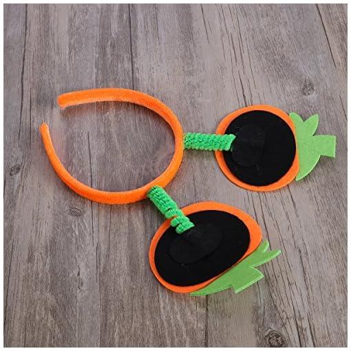 BESTOYARD-Halloween-Krbis-Stirnband-Lcheln-Krbis-Haarband-Kopfschmuck-fr-Kinder-Halloween-Kostm-Party-zufllige-Farbe