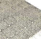 Guru-Shop Hangewebter Blockdruck Teppich aus Natur Baumwolle mit Traditionellem Design - Weiß/schwarz Muster 7, 180x110 cm, Teppiche, Bodenmatten