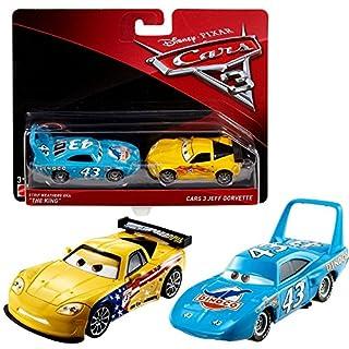 Disney Cars 3 Cast 1:55 - Auto Fahrzeuge Doppelpack zur Auswahl, Typ:King El Rey & Jeff Gorvette