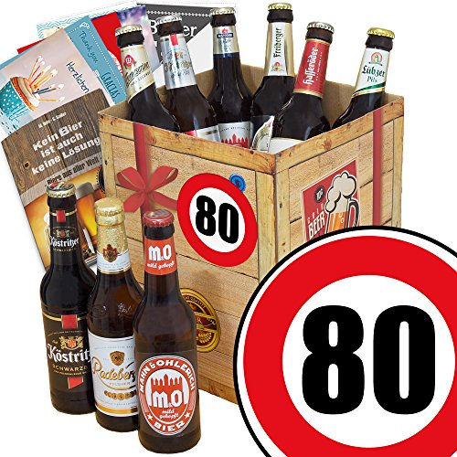 Bierbox DDR   Geschenk Box Bier   Zahl 80   Geschenkidee Mama -