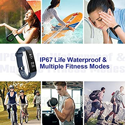 Motenik Fitness Tracker, Slim Activity Tracker with Heart Rate Monitor Waterproof Fitness Wristband Touch Screen Fitness Watch Bluetooth Pedometer Sleep Monitor for Kids Women and Men Compatible with Android&iOS from Motenik