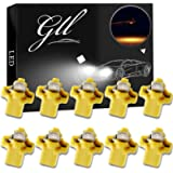 GLL 10pcs Amber T5 LED Bulbs B8.5 LED Dashboard Bulbs 1-5050-SMD for Car Interior Speedometer Dashboard Instrument Gauge…