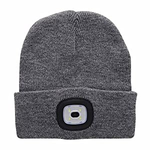 61le0TdHRHL. SS300  - enjoydeal LED Beanie Hat Lighted Knit Hat Rechargeable Hands Free Headlamp Cap for Hunting Camping Grilling Running