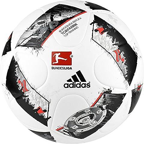 adidas Dfl Torfabrik Training Liga Fußball, White/Black/Solar Red, 5