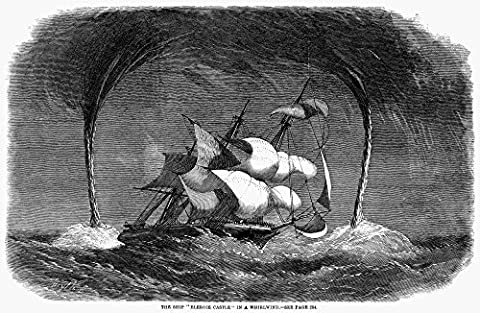 Waterspouts 1858. /Nbound For India The British Troop Ship 'Bleroie