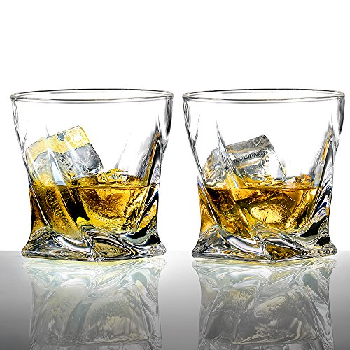 Ecooe 2 x Whiskeygläser Whisky Glas Set Whiskybecher 300ml