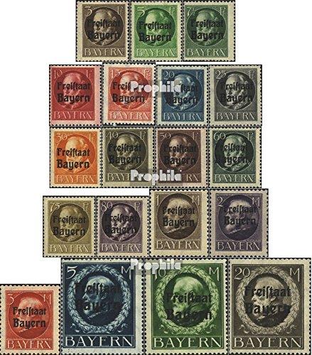 Prophila Collection Baviera 152A 1919 Re Ludwig con Stampa (Francobolli per i collezionisti)