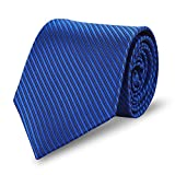 Expresstech @ Herren Krawatte Fashion Klassik 8cm mit Geschenkbox für Casual & Arbeitskleidung Geschäft Business Hochzeit - Gestreift Blau