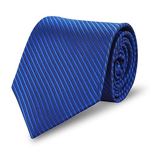 Expresstech @ cravatta uomo 8cm classica per il lavoro occasioni speciali wedding attività commerciale evento formale - blu a righe
