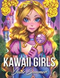 Kawaii Girls: A Cute Coloring Book with Lovable Manga Characters, Adorable Fantasy Scenes, and Beautiful Women's Fashion